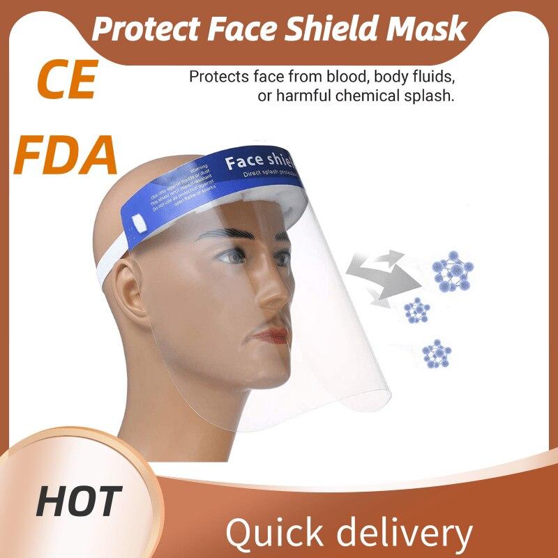 Factory Sales 10pcs Transparent Disposable Protection Face Shield Visors Mask