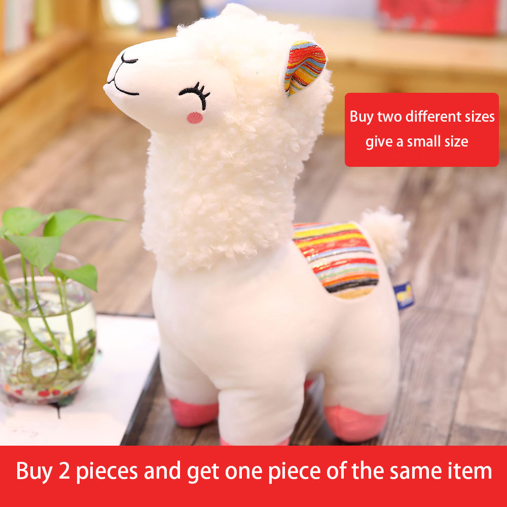 Super Cute Grass Mud Horse Plush Toy Alpaca Doll Pillow Oversized Doll Children Doll Birthday Gift Female