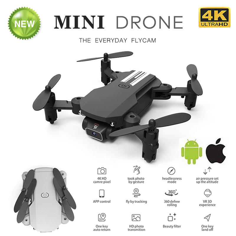 RC Drone UAV Quadcopter WiFi FPV with 4K HD Camera Aerial Photography Helicopter Foldable LED Light Quality Global Toy JIMITU 5