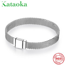 TOP Quality 925 Sterling Silver Clip Bead Bracelets for Women Fit Original Reflexions Bracelet charms femme Jewelry Fashion 2019(China)