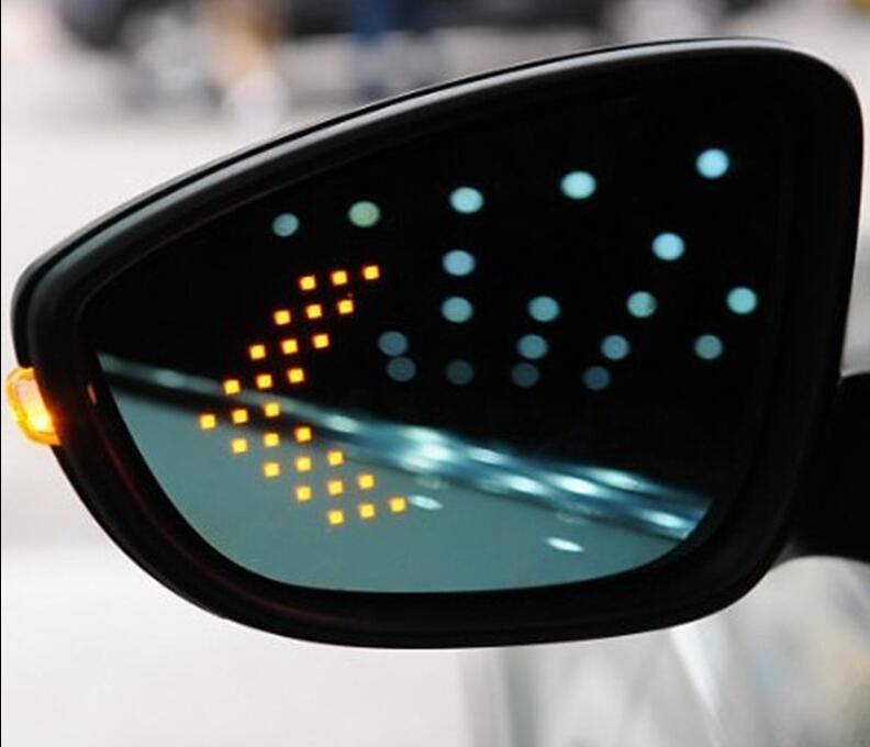 LED de señal de giro calentada anti defogging deslumbrante Retrovisor lateral para Volkswagen VW Passat B6 R36 07-11 b7 12-16 B8 17-19