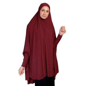 Image 4 - מוסלמי נשים גדול צעיף חיג אב Khimar האסלאמי מלא כיסוי תפילה ניקאב הבורקה ארוך Jilbab העבאיה בגדים ערבים מזרח התיכון עמירה