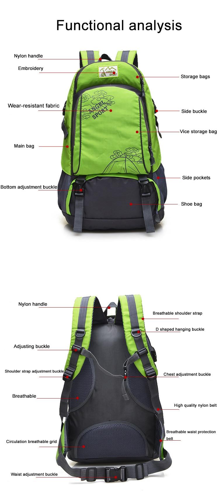 Вместительная сумка для занятий спортом на открытом воздухе