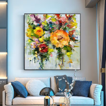 100% Hand Painted Abstract Flowers Art Oil Painting On Canvas Wall Art Wall Pictures Flowers Canvas Painting For Room Home Decor yhhp hand painted abstract art flowers decoration canvas oil painting