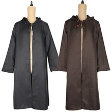 Halloween Cosplay Costume Brown Black Long Coat Knight Cosplay Costumes Long Sleeves Cloak Anime Cos Disguisement For Carnival cheap Movie TV Unisex Adult Jackets Coats Other yzfcloak Polyester
