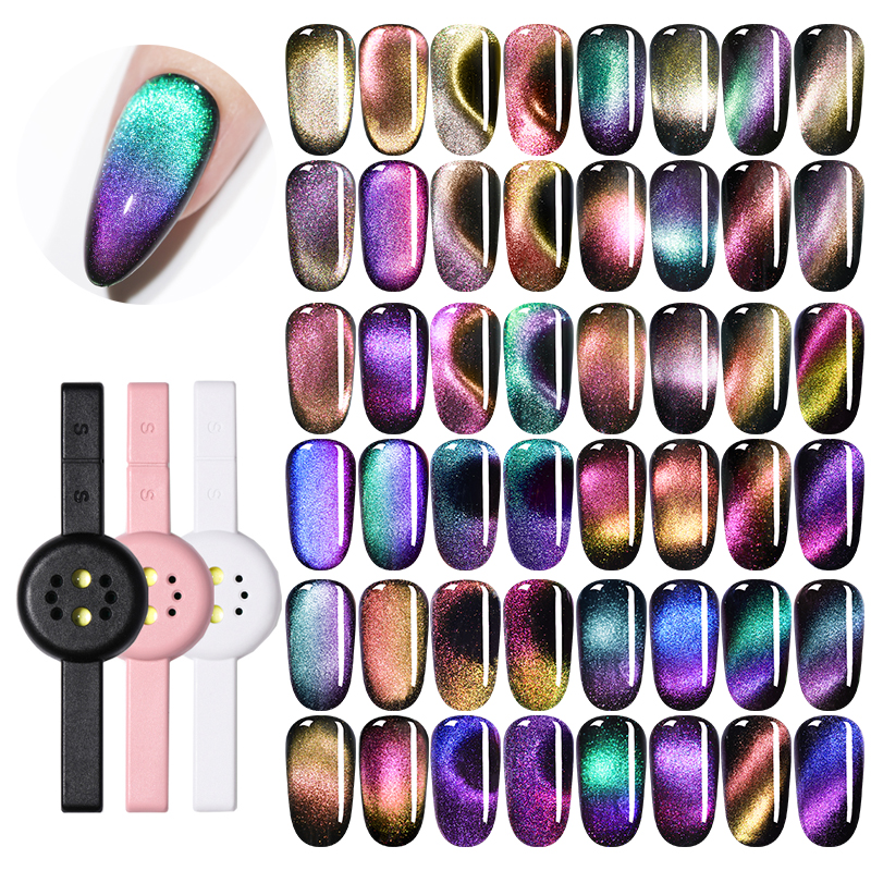 1Pc 3W Magnetic UV Lamp Two-in-one Pink Black White Magnetic Stick Multi-function USB Cable  Mini Curing Nail Art Gel Polish
