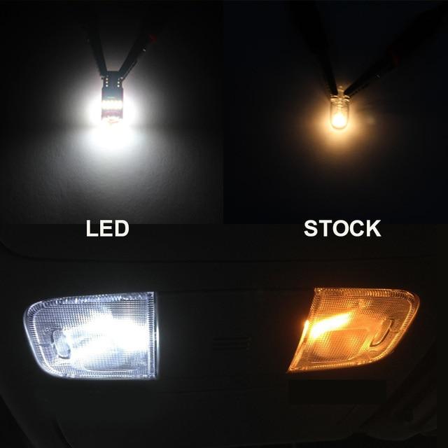 9 x White Ice Blue Error Free Car LED License Plate Bulb Package Kit For 2015-2017 Chrysler 200 Interior Reading Dome Cargo Lamp 5