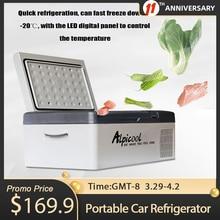 Carro portátil geladeira freezer refrigerador 15l auto geladeira compressor de refrigeração rápida casa piquenique icebox