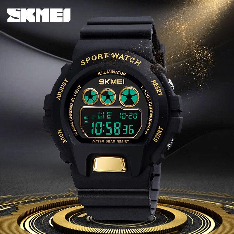 Women Men Watches SKMEI Fashion Digital Wristwatch Luxury Luminous Display Chronograph Clock Waterproof Sport Watch For Gift