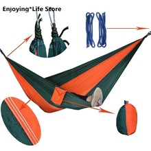 Double Hammock Outdoor Camping Hammock Travel Pastoral Swing Portable Hanging Chair Swing