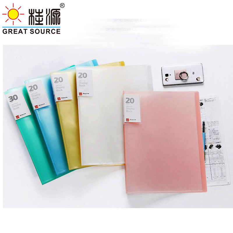 Project Folder A4 PP Presentation Book  Display Book 40 Transparent Pockets Fancy Candy Color 1PC