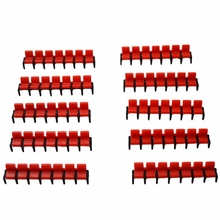 20pcs 1:75 scale model cinema chair toys miniature red concert seats for diorama tiny architecture movie theaters scenery making