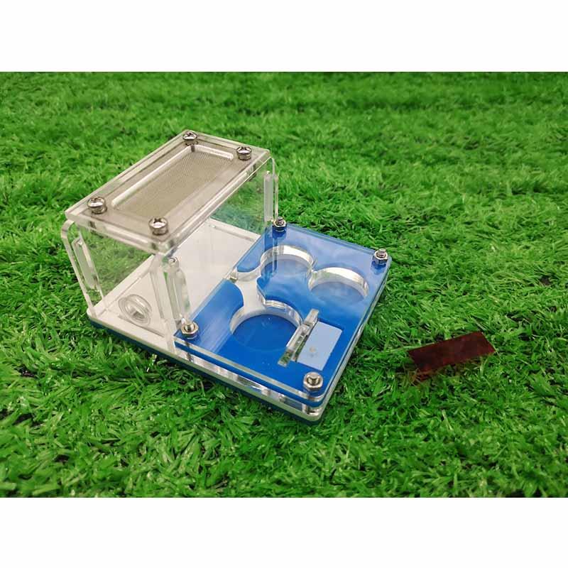 Contenedor de reptiles acrílico Ant Farm Mini hormiga caja de colección de insectos reptil casa Caja de luz nocturna con combinación de luces LED de tamaño A6, caja de luz de cine con pilas AA para tarjetas de letras negras DIY