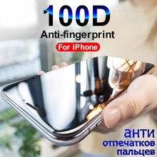 100D מגן זכוכית על עבור iPhone 7 8 6 6S בתוספת 5 SE עבור iPhone X XR XS מקסימום מסך מגן מזג זכוכית על iPhone 7 סרט
