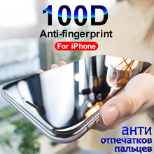 100D vidro de Proteção sobre Para iPhone 5 7 8 6 6S Plus SE Para o iphone X XR XS Max filme Protetor de tela de vidro Temperado no iPhone 7