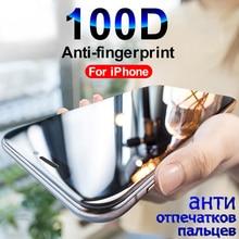 Protector de cristal templado 100D para pantalla de móvil, película de vidrio templado para iPhone 7, 8, 6, 6S Plus, 5 SE, X, XR, XS, Max