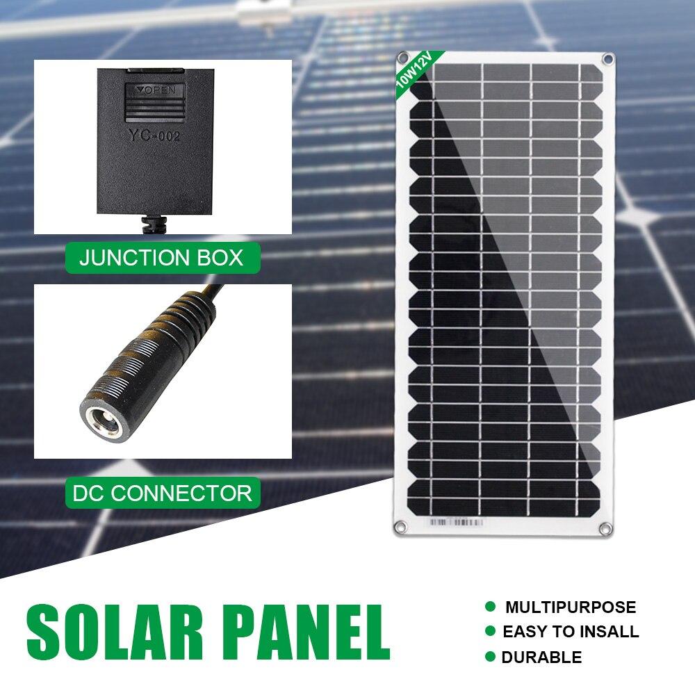 Caricatore di mantenimento della batteria del pannello solare di alimentazione della barca solare portatile da 12V 4.5W per auto Caravan Boat Caravan