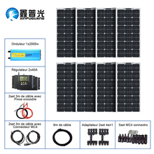 цена на BOGUANG 800w 12v solar panel system including 8 pcs 18V 100w flexible solar panel controller 2000w flexible solar panel, inverter connector, cable