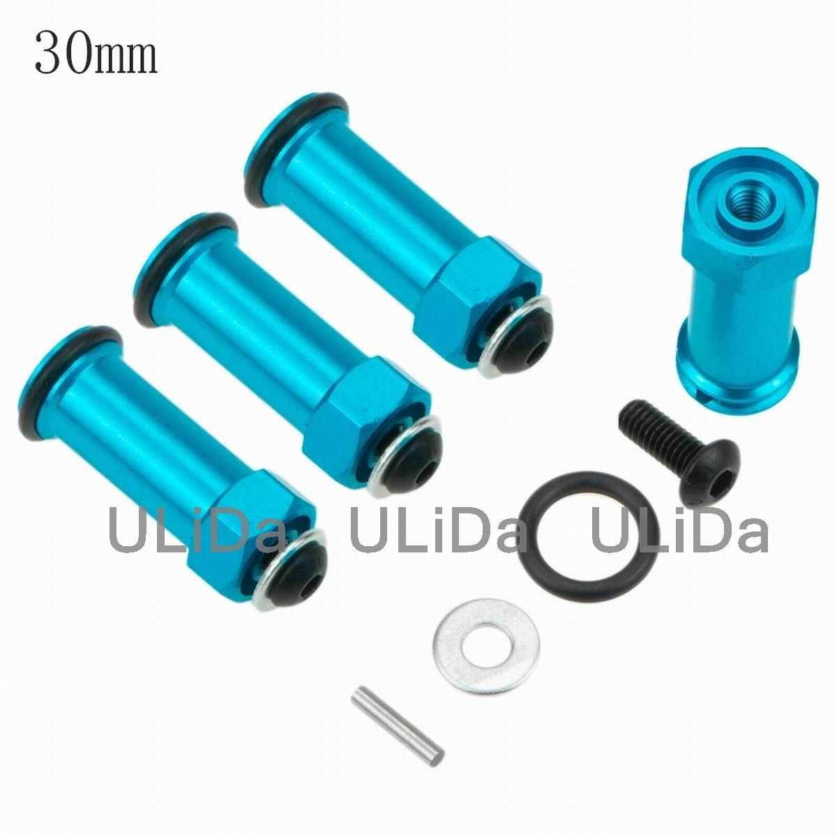 RC Car 1/10 Scale Upgrade Parts Aluminum Alloy 12mm Wheel Hex Hub Extension Adapter 25mm 30mm Hex Drive For Traxxas Slash 4x4
