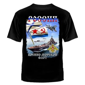 Russian Navy T-SHIRT RUSSIA Putin Russia Moskow Army Cotton O-Neck Short Sleeve Mens T Shirt Size S-3XL