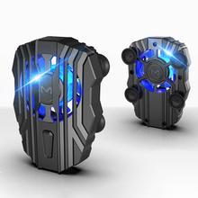 ABKT-Handy Kühler für IPhone Xs Max Xs XR Stille Telefon Heizkörper PUBG Controller Griff LED Licht Kühlung fan für Samsung