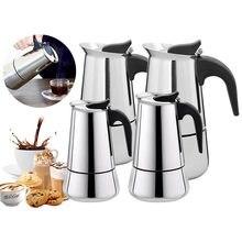 Hervidor de café de acero inoxidable, cafetera portátil Espresso, Moka Pot Barista, 100ml/200ml/300ml/450ml