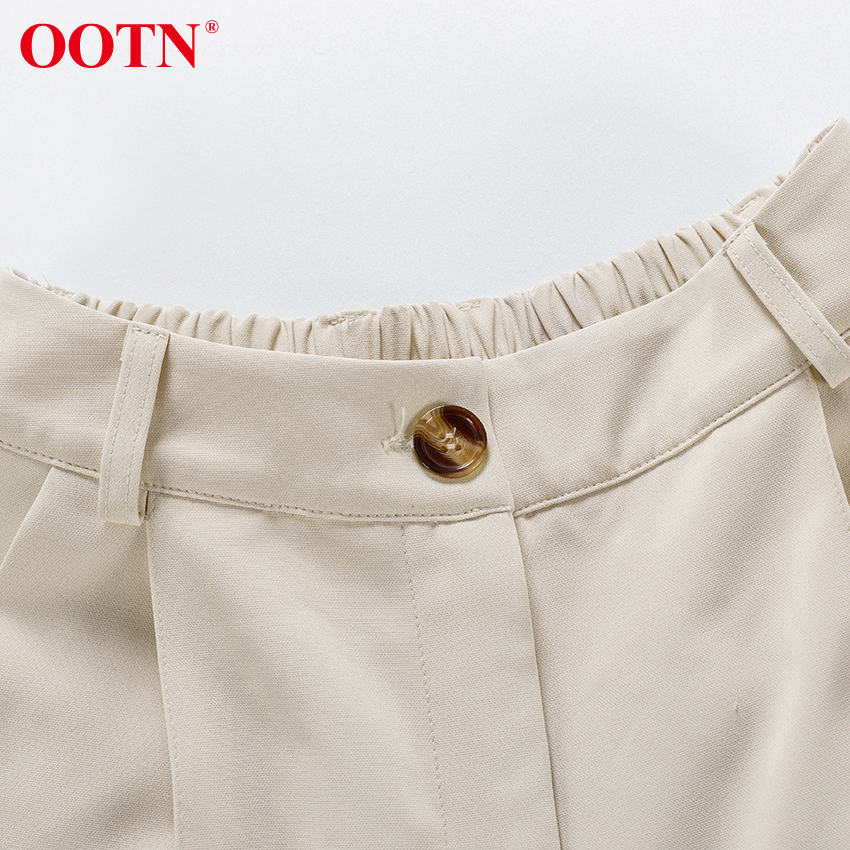 H6a15376413554b548d6fc3f6034d4b604 - OOTN Casual High Waist Khaki Pants Women Summer Spring Brown Ladies Office Trousers Zipper Pocket Solid Female Pencil Pants