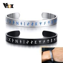 Vnox Handmade Viking Bracelet for Men Cuff Nordic Rune Norse Stainless Steel Bangle Pagan Celtic Vintage Retro Jewerly