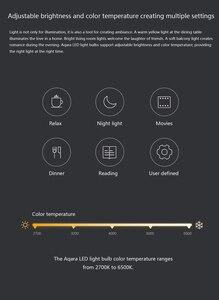 Image 5 - الأصلي Aqara 9 واط E27 2700K 6500K 806lum الذكية الأبيض اللون LED لمبة إضاءة العمل مع عدة المنزل وتطبيق MIjia