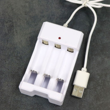 Adjustable Adapter USB Charger Battery 3 Slots Universal Rec