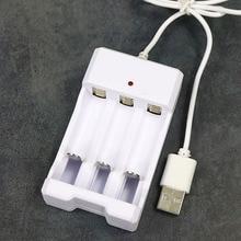 Adjustable Adapter USB Charger Battery 3 Slots Universal Rec