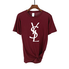 2021 Camiseta de algodón con letras estampadas para mujer, Tops informales de manga corta en blanco, negro y rosa, marca de lujo