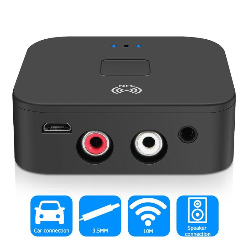 Nfc Bluetooth 5 0 Receiver 3 5mm Aux Rca Jack Music Hifi Wireless Adapter Hands Free Auto On Off Car Audio Receiver For Tv Car Wireless Adapter Aliexpress