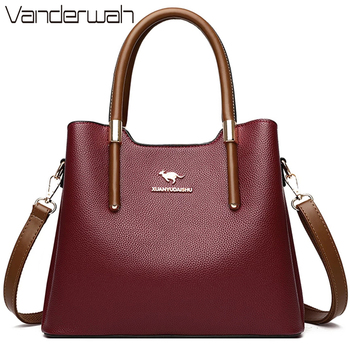 Leather Casual Crossbody Bags for Women 2020 Ladies Luxury Designer Tote Handbag Top-Handle High Quality Shoulder Bag Sac A Main 1