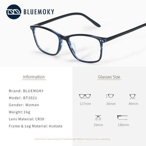 Image 2 - BLUEMOKY Semi Oval Fashion Eyeglasses Anti Blue Ray Spectacles Photochromic Glasses Prescription Glasses Eyewear 2019 BT3021