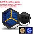 Neue typ 210W LED Retro-Licht LED Nacht Licht Musik Party DJ Disco Dekorative Lampe Mit 48pc LED RGB Projektor Lichter