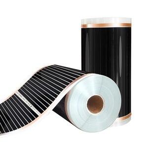 Image 3 - Film di Riscaldamento elettrico 20m2 Lunghezza 40M di Larghezza 0.5M Lontano Infrarosso Riscaldamento a Pavimento Films Con Accessori AC220V, 220W/m2 Pad di Riscaldamento