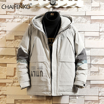 CHAIFENKO Brand Men Parka Cotton Padded Winter Jacket Coat Mens Warm Jackets Male Casual Hooded Zipper Thick Coats Down Parkas new winter men s cotton linen padded thickened jacket china style male jeans coat mens fashion casual warm denim parkas jacket