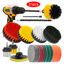 Car Drill Brushes Set Scrubber Cleaning Kit Car Wash Brush Cleaning Tools Polishing Pad Set Power Spin Tub Shower