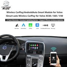 Bezprzewodowe urządzenie do automatycznej modernizacji systemu Android dla Volvo iSmart Auto dla Volvo XC70 XC60 S60 V40 V60 V70 Mirroring Link SIRI tanie tanio CN (pochodzenie)
