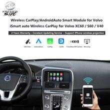 Boîte de mise à niveau sans fil CarPlay Android Auto, pour Volvo iSmart Auto XC70 XC60 S60 V40 V60 V70 mirrorlink SIRI, Microphone OEM