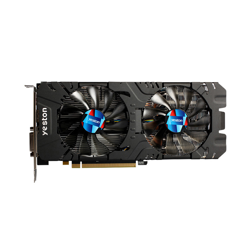 Yeston <font><b>RX</b></font> <font><b>580</b></font> RX580 2048SP 4G D5 GAEA Graphics Card Video Card Radeon Chill Polaris 20 Dual Fan Cooling 4GB Memory GDDR5 256bit image