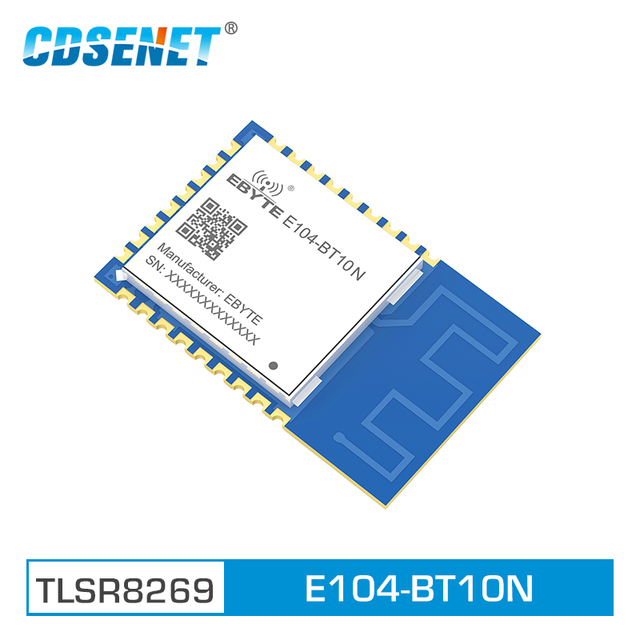E104 BT10N Node Module TLSR8269 Wireless Transceiver SMD GFSK SoC Ble 4.2 Sigmesh Transparent Transmissio Mesh Network