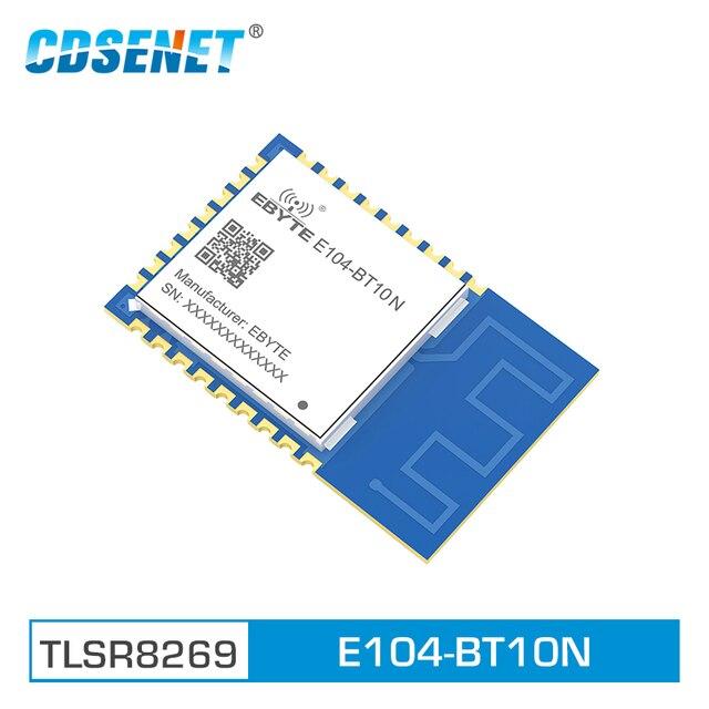 E104 BT10N düğüm modülü TLSR8269 kablosuz alıcı verici SMD GFSK SoC Ble 4.2 Sigmesh şeffaf transmisyon örgü ağı