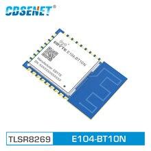 E104 BT10N módulo de nó tlsr8269 transceptor sem fio smd gfsk soc ble 4.2 rede de malha transmissio transparente sigmesh