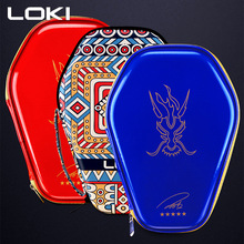 LOKI Portable Table Tennis Racket Bag PU Waterproof Protection Case for Ping Pong Paddle