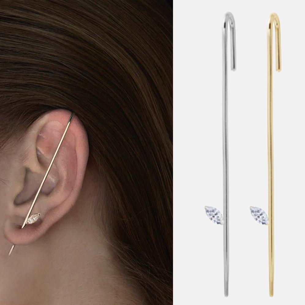 Andywen 925 Sterling Silver Simple Thread Ear Pins Ear Cuff No Piercing Clips Long Earcuff Pearl 2019 Women New Design Jewelry Clip Earrings Aliexpress