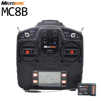 Microzone MC8B 2.4G 8CH Remote Control Transmitter & MC8RE 8CH Receiver radio system for RC aircraft fixed-wing helicopter drone цена 2017