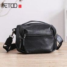 AETOO Men's shoulder bag, men's leather