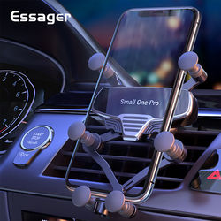 Essager Gravity Car Phone Holder For iPhone 12 Xiaomi mi Universal Air Vent Mount Holder For Cell Phone in Car Holder Clip Stand